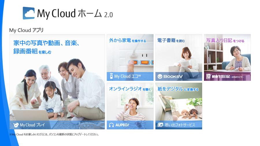 富士通の「My Cloud」も画像や動画の管理に便利。PCに保存するだけで面倒な整理を代わりに行なってくれる