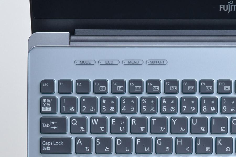 各種モード切替などをワンタッチで呼び出せるショートカットキーを装備