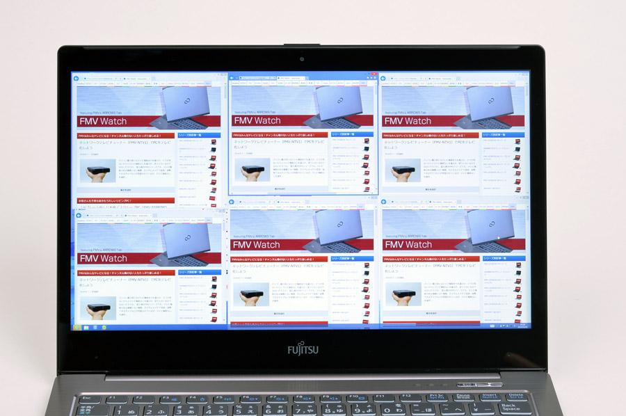 Webブラウザーも意味もなくたくさん開ける!(注:画面はハメコミ合成ではありません)
