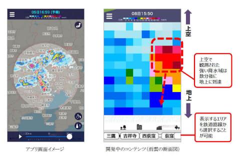 アプリ 雨雲 レーダー