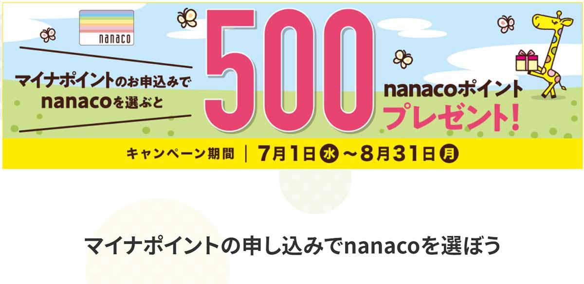 ポイント nanaco マイナ